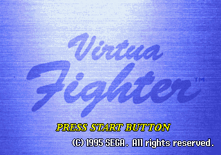 Virtua Fighter Title Screen