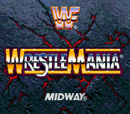 WWF WrestleMania - The Arcade Game Title Screen
