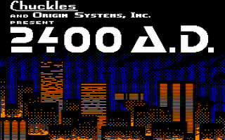 2400 A.D. Title Screen