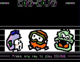 Dig Dug Title Screen