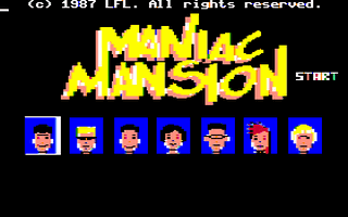 Maniac Mansion Title Screen