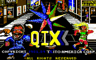 Qix Title Screen