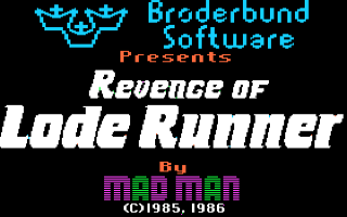 Revenge of Lode Runner Title Screen