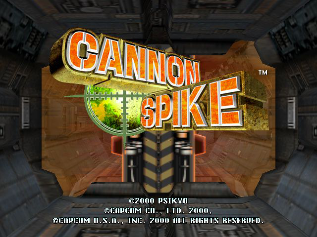 Cannon Spike Title Screen