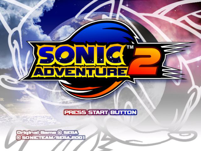 Sonic Adventure 2 Title Screen