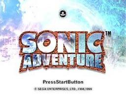 Sonic Adventure Title Screen