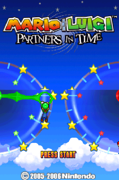 Mario & Luigi: Partners in Time Title Screen