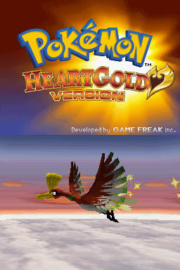 Pokemon HeartGold Version Title Screen