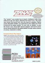 Zanac Box Art Back