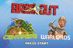 3 Games in One! - Breakout, Centipede, Warlords