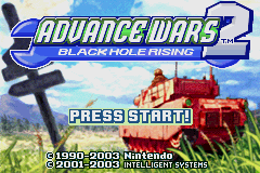Advance Wars 2 - Black Hole Rising Title Screen