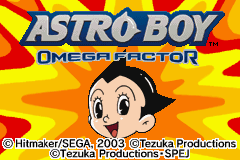 Astro Boy - Omega Factor Title Screen