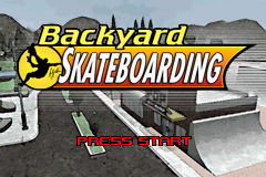Backyard Skateboarding Title Screen