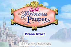 Barbie - The Princess and the Pauper Title Screen