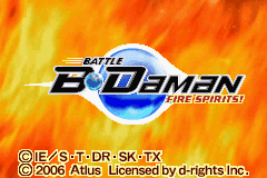 Battle B-Daman - Fire Spirits! Title Screen