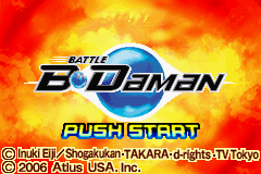 Battle B-Daman Title Screen