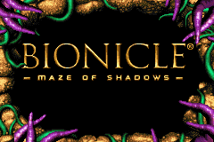 Bionicle - Maze of Shadows Title Screen