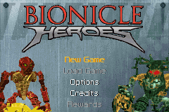 Bionicle Heroes Title Screen