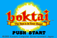 Boktai - The Sun Is in Your Hand Title Screen