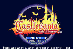 Castlevania - Aria of Sorrow Title Screen