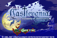 Castlevania - Harmony of Dissonance Title Screen