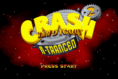 Crash Bandicoot 2 - N-Tranced Title Screen