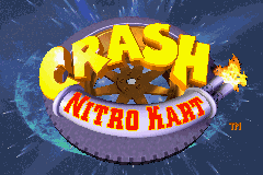 Crash Nitro Kart Title Screen