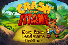 Crash of the Titans Title Screen
