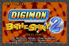 Digimon - Battle Spirit 2 Title Screen