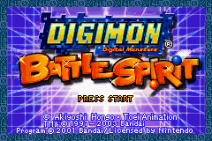 Digimon - Battle Spirit Title Screen