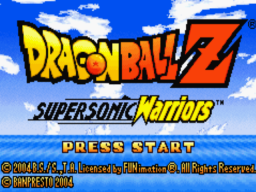 Dragon Ball Z - Supersonic Warriors Title Screen