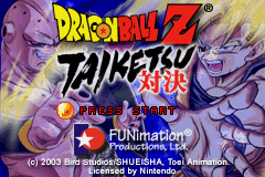 Dragon Ball Z - Taiketsu Title Screen