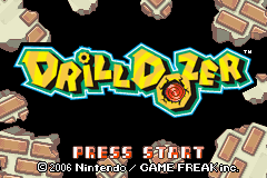 Drill Dozer Title Screen