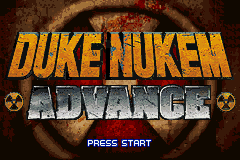 Duke Nukem Advance Title Screen