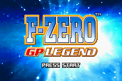 F-Zero - GP Legend Title Screen