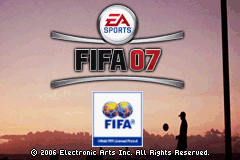 FIFA Soccer 07 Title Screen