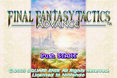 Final Fantasy Tactics Advance Title Screen