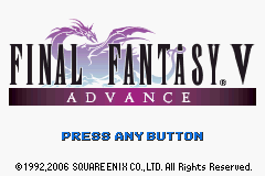 Final Fantasy V Advance Title Screen