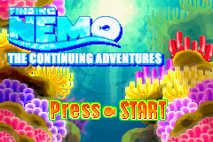 Finding Nemo - The Continuing Adventures Title Screen