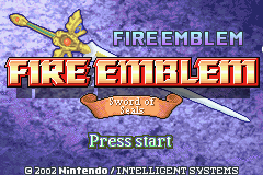 Fire Emblem - Fuuin no Tsurugi (english translation) Title Screen