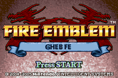 Fire Emblem - Gheb Fe Title Screen