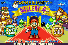 Game & Watch Gallery 4 Title Screen
