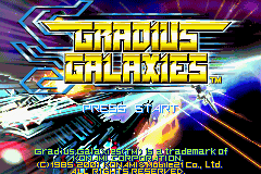 Gradius Galaxies Title Screen