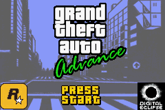 Grand Theft Auto Advance Title Screen