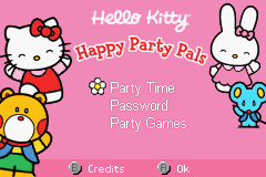 Hello Kitty - Happy Party Pals Title Screen