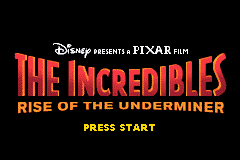 Incredibles, The - Rise of the Underminer Title Screen