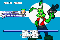 Jazz Jackrabbit Title Screen