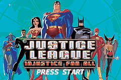 Justice League - Injustice for All Title Screen