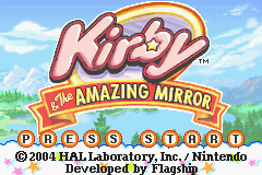 Kirby & the Amazing Mirror Title Screen