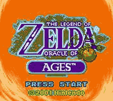 The Legend of Zelda - Oracle of Ages Title Screen